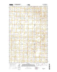 Ray NW North Dakota Current topographic map, 1:24000 scale, 7.5 X 7.5 Minute, Year 2014