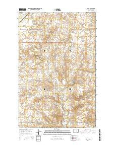 Ray SE North Dakota Current topographic map, 1:24000 scale, 7.5 X 7.5 Minute, Year 2014