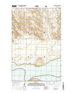 Red Mike Hill North Dakota Current topographic map, 1:24000 scale, 7.5 X 7.5 Minute, Year 2014 from North Dakota Map Store