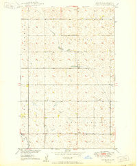 Renville North Dakota Historical topographic map, 1:24000 scale, 7.5 X 7.5 Minute, Year 1950