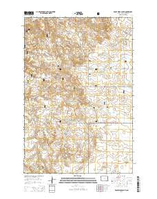 Rocky Ridge South North Dakota Current topographic map, 1:24000 scale, 7.5 X 7.5 Minute, Year 2014