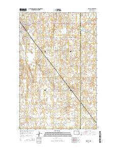 Rolla North Dakota Current topographic map, 1:24000 scale, 7.5 X 7.5 Minute, Year 2014