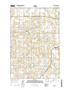 Rutland North Dakota Current topographic map, 1:24000 scale, 7.5 X 7.5 Minute, Year 2014