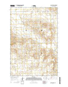Saint Anthony North Dakota Current topographic map, 1:24000 scale, 7.5 X 7.5 Minute, Year 2014
