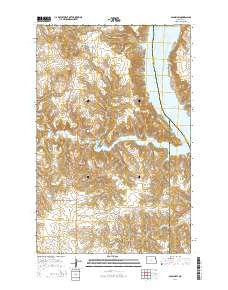 Sanish SW North Dakota Current topographic map, 1:24000 scale, 7.5 X 7.5 Minute, Year 2014