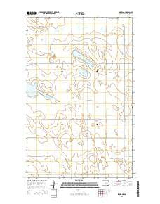 Sarles NE North Dakota Current topographic map, 1:24000 scale, 7.5 X 7.5 Minute, Year 2014