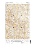 Sather Lake North Dakota Current topographic map, 1:24000 scale, 7.5 X 7.5 Minute, Year 2014 from North Dakota Map Store