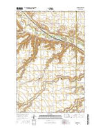 Sawyer North Dakota Current topographic map, 1:24000 scale, 7.5 X 7.5 Minute, Year 2014 from North Dakota Map Store