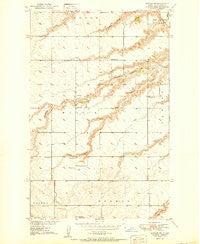 Sawyer SW North Dakota Historical topographic map, 1:24000 scale, 7.5 X 7.5 Minute, Year 1950