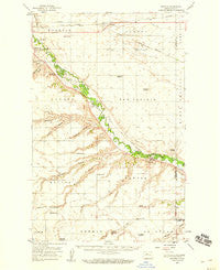 Sawyer North Dakota Historical topographic map, 1:62500 scale, 15 X 15 Minute, Year 1949