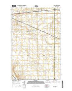 Sawyer NE North Dakota Current topographic map, 1:24000 scale, 7.5 X 7.5 Minute, Year 2014 from North Dakota Map Store