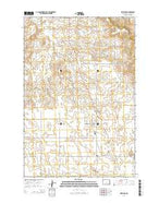 Selfridge North Dakota Current topographic map, 1:24000 scale, 7.5 X 7.5 Minute, Year 2014 from North Dakota Map Store