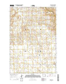 Selfridge North Dakota Current topographic map, 1:24000 scale, 7.5 X 7.5 Minute, Year 2014