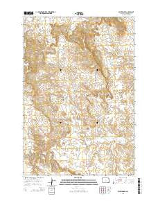 Selfridge SE North Dakota Current topographic map, 1:24000 scale, 7.5 X 7.5 Minute, Year 2014