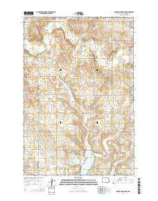Senger Lake North North Dakota Current topographic map, 1:24000 scale, 7.5 X 7.5 Minute, Year 2014