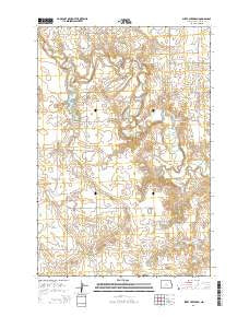 Sheep Creek Dam North Dakota Current topographic map, 1:24000 scale, 7.5 X 7.5 Minute, Year 2014