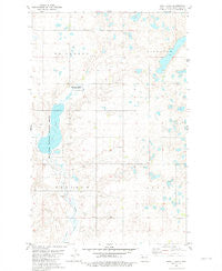 Shell Lake North Dakota Historical topographic map, 1:24000 scale, 7.5 X 7.5 Minute, Year 1981