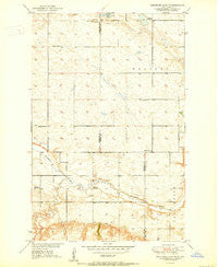 Sheyenne Lake NE North Dakota Historical topographic map, 1:24000 scale, 7.5 X 7.5 Minute, Year 1950