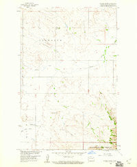 Stocke Butte North Dakota Historical topographic map, 1:24000 scale, 7.5 X 7.5 Minute, Year 1958