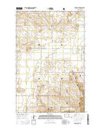 Stocke Butte North Dakota Current topographic map, 1:24000 scale, 7.5 X 7.5 Minute, Year 2014 from North Dakota Map Store