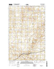 Temple North Dakota Current topographic map, 1:24000 scale, 7.5 X 7.5 Minute, Year 2014 from North Dakota Maps Store