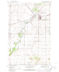 Towner North Dakota Historical topographic map, 1:24000 scale, 7.5 X 7.5 Minute, Year 1950