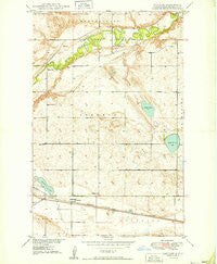 Voltaire North Dakota Historical topographic map, 1:24000 scale, 7.5 X 7.5 Minute, Year 1949