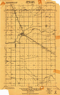 Walhalla North Dakota Historical topographic map, 1:62500 scale, 15 X 15 Minute, Year 1918
