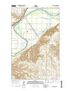 Williston SW North Dakota Current topographic map, 1:24000 scale, 7.5 X 7.5 Minute, Year 2014 from North Dakota Map Store
