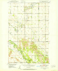 Willow City SW North Dakota Historical topographic map, 1:24000 scale, 7.5 X 7.5 Minute, Year 1950