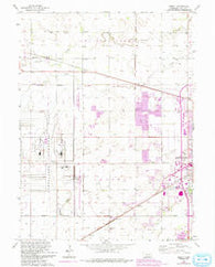 Abbott Nebraska Historical topographic map, 1:24000 scale, 7.5 X 7.5 Minute, Year 1962