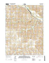 Adams Nebraska Current topographic map, 1:24000 scale, 7.5 X 7.5 Minute, Year 2014