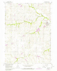 Adams Nebraska Historical topographic map, 1:24000 scale, 7.5 X 7.5 Minute, Year 1965
