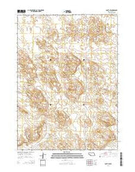Agate SW Nebraska Current topographic map, 1:24000 scale, 7.5 X 7.5 Minute, Year 2014
