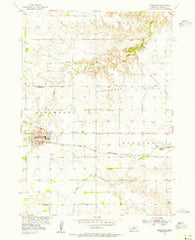 Ainsworth Nebraska Historical topographic map, 1:24000 scale, 7.5 X 7.5 Minute, Year 1954