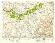Alliance Nebraska Historical topographic map, 1:250000 scale, 1 X 2 Degree, Year 1958