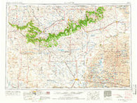 Alliance Nebraska Historical topographic map, 1:250000 scale, 1 X 2 Degree, Year 1955