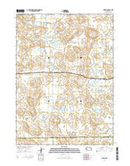 Antioch Nebraska Current topographic map, 1:24000 scale, 7.5 X 7.5 Minute, Year 2014 from Nebraska Map Store
