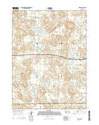 Antioch Nebraska Current topographic map, 1:24000 scale, 7.5 X 7.5 Minute, Year 2014