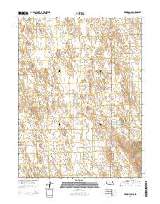 Arrowhead Lake Nebraska Current topographic map, 1:24000 scale, 7.5 X 7.5 Minute, Year 2014