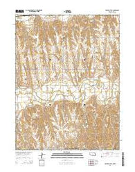 Beaver City SE Nebraska Current topographic map, 1:24000 scale, 7.5 X 7.5 Minute, Year 2014