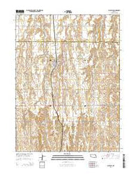 Blue Hill Nebraska Current topographic map, 1:24000 scale, 7.5 X 7.5 Minute, Year 2014