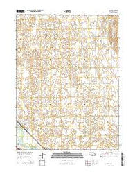 Brady Nebraska Current topographic map, 1:24000 scale, 7.5 X 7.5 Minute, Year 2014