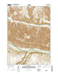 Bristow Nebraska Current topographic map, 1:24000 scale, 7.5 X 7.5 Minute, Year 2014