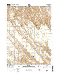 Brule NW Nebraska Current topographic map, 1:24000 scale, 7.5 X 7.5 Minute, Year 2014