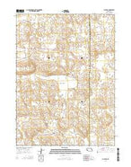 Bucktail Nebraska Current topographic map, 1:24000 scale, 7.5 X 7.5 Minute, Year 2014 from Nebraska Map Store