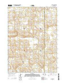Bucktail Nebraska Current topographic map, 1:24000 scale, 7.5 X 7.5 Minute, Year 2014