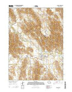 Callaway Nebraska Current topographic map, 1:24000 scale, 7.5 X 7.5 Minute, Year 2014 from Nebraska Map Store