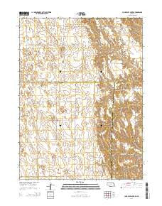 Camp Hayes Lake NE Nebraska Current topographic map, 1:24000 scale, 7.5 X 7.5 Minute, Year 2014