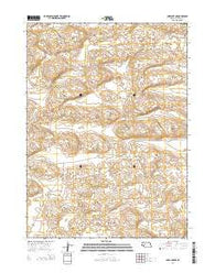 Carr Lake NE Nebraska Current topographic map, 1:24000 scale, 7.5 X 7.5 Minute, Year 2014